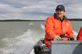 Traveling Troubled Water Before Manitoba Hydro flooded Southern Indian Lake—as part of the massive Churchill River Diversion—it was home to the second largest whitefish fishery in North America. It was also home to the thriving Cree community into which fisherman Les Dysart, pictured, was born. (Map here.)