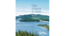 Canada's largest hydro producer uses attractive, environmentally benign images of its projects, most of which are far removed from public view. The image above is the cover of Hydro Quebec's 2006 annual report.