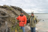 """Homeland Les Dysart and his father William are both life-long fishers and hunters. To Hydro, the lake is a reservoir. To them, it is home; a home """"sacrificed"""" for the sake of cheap power."""